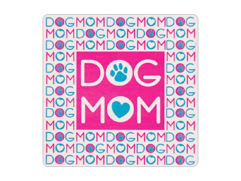 ABSORBENT STONE COASTER - DOG MOM