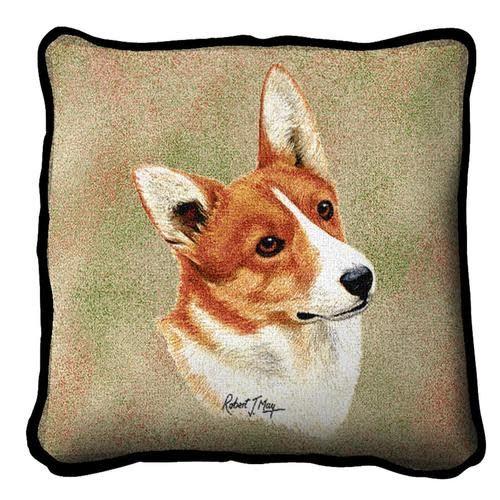 Tapestry Pillow -Corgi