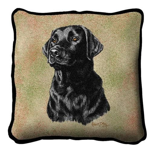 Tapestry Pillow - Lab,Black