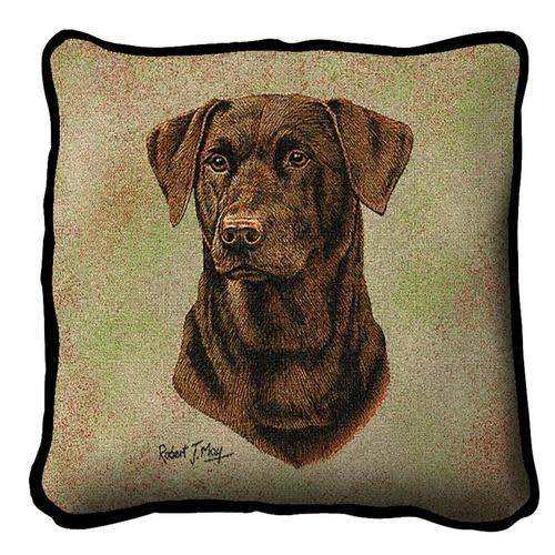 Tapestry Pillow - Lab,Chocolate