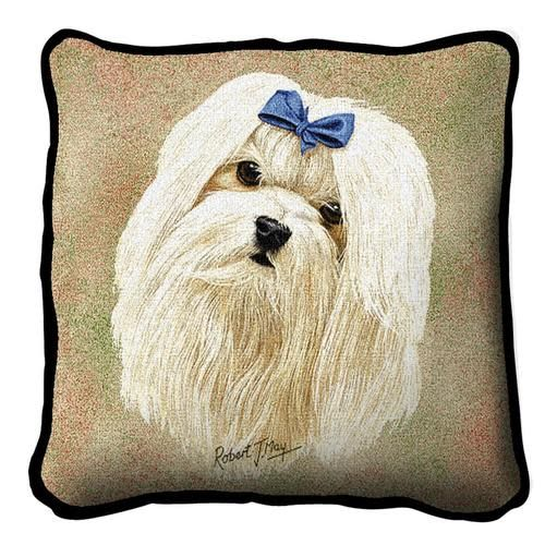 Tapestry Pillow - Maltese