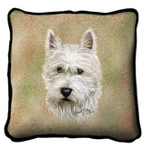 Tapestry Pillow - Westie