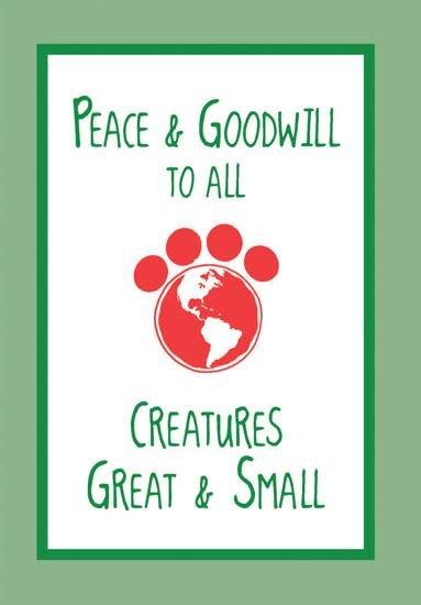 Christmas Card Peace & Goodwill