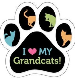 Paw/Ribbon Magnet -I love my Grand Cats