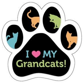 Paw Magnet - I love my Grand Cats