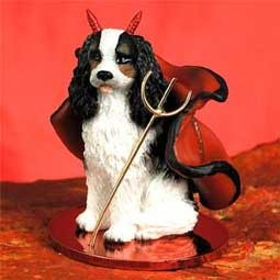 Devil Ornament Cavalier King Charles Spani