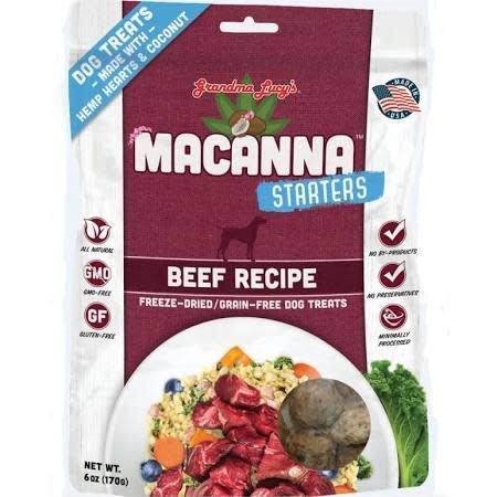 Grandma Lucy 1lb Dog Macanna Starter Beef Treat