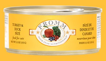 Fromm 5.5 oz Cat Can Turkey& Duck Pate  GF