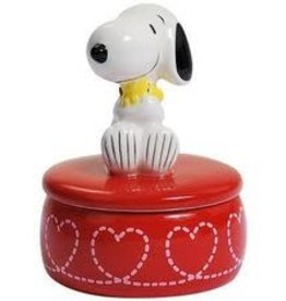 Snoopy Figurine Snoopy Hugging Woodstock Trinket Box