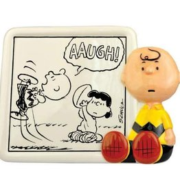 Snoopy Figurine Plaque Charlie Brown