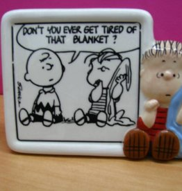 Snoopy Figurine Plaque Linus Blanket