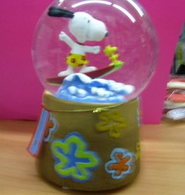 Snoopy Surfing Snow Globe/Music Box