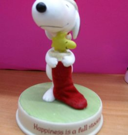 Snoopy Figurine Happiness is a Full Stocking