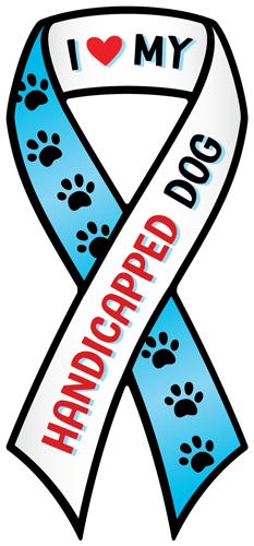 Magnetic Ribbon Handicapped Dog