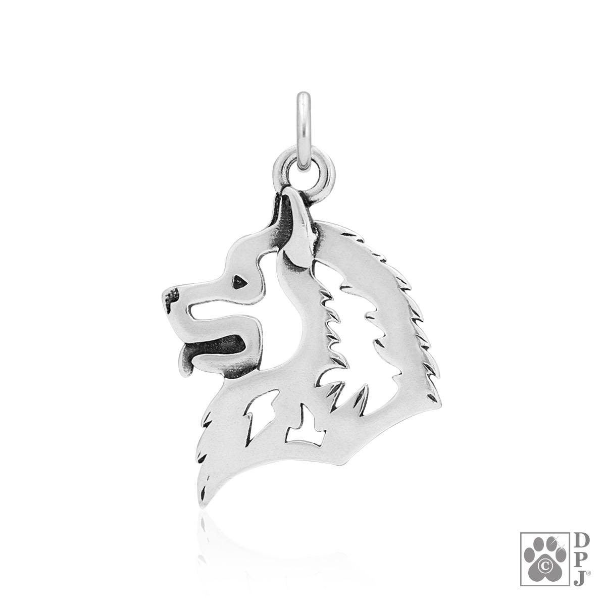 Sterling Silver Samoyed Head Pendant