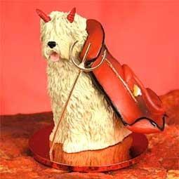 Devil Ornament Soft Coat Wheaton Terrier