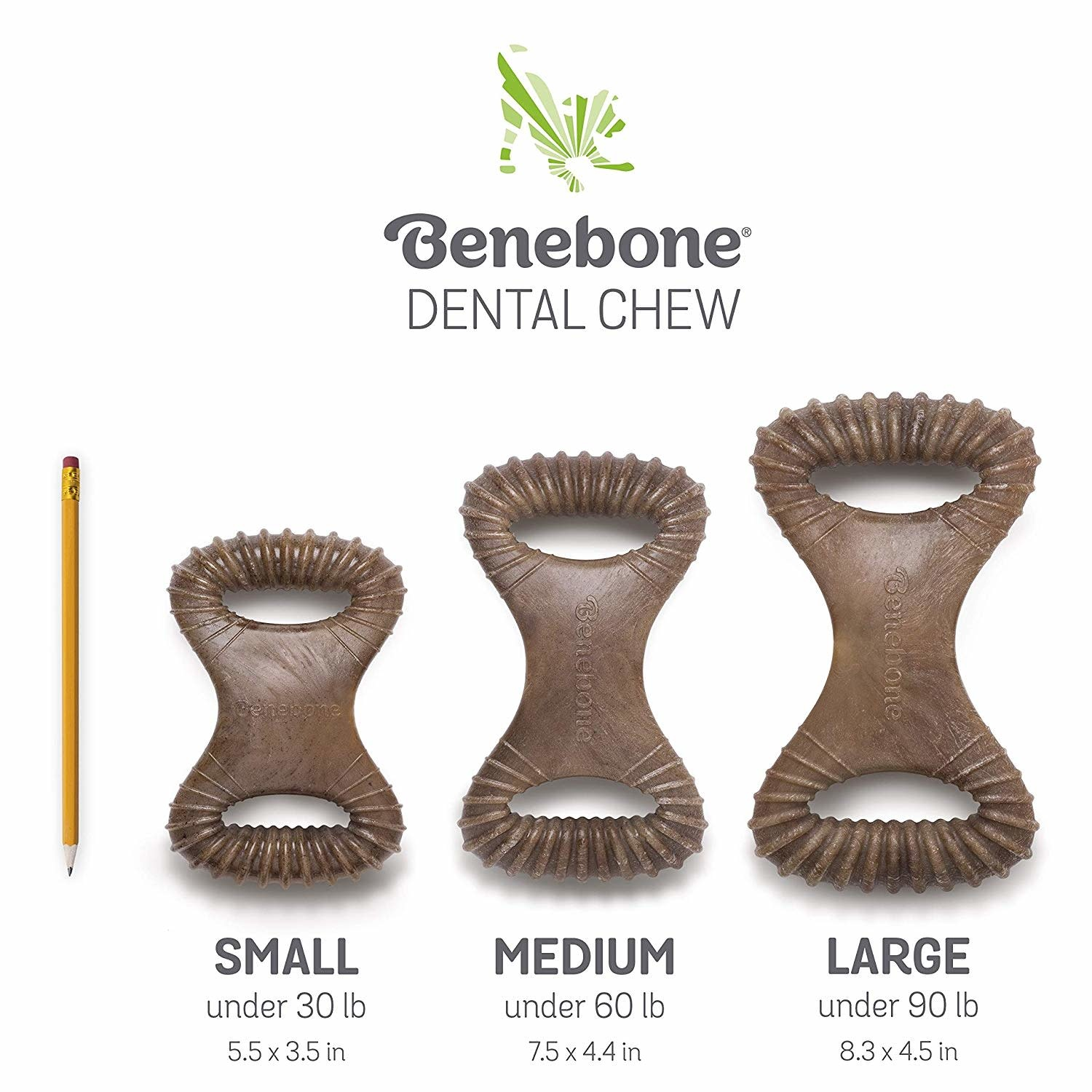 Benebone 8.1 oz Dog Dental Chew Large Bacon Flavored