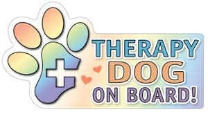 Mag Bumper Sticker -  Therapy Dog on Board