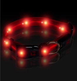 Ultrahund™ Play LED Adjustable Collar   USB Chargable, Red