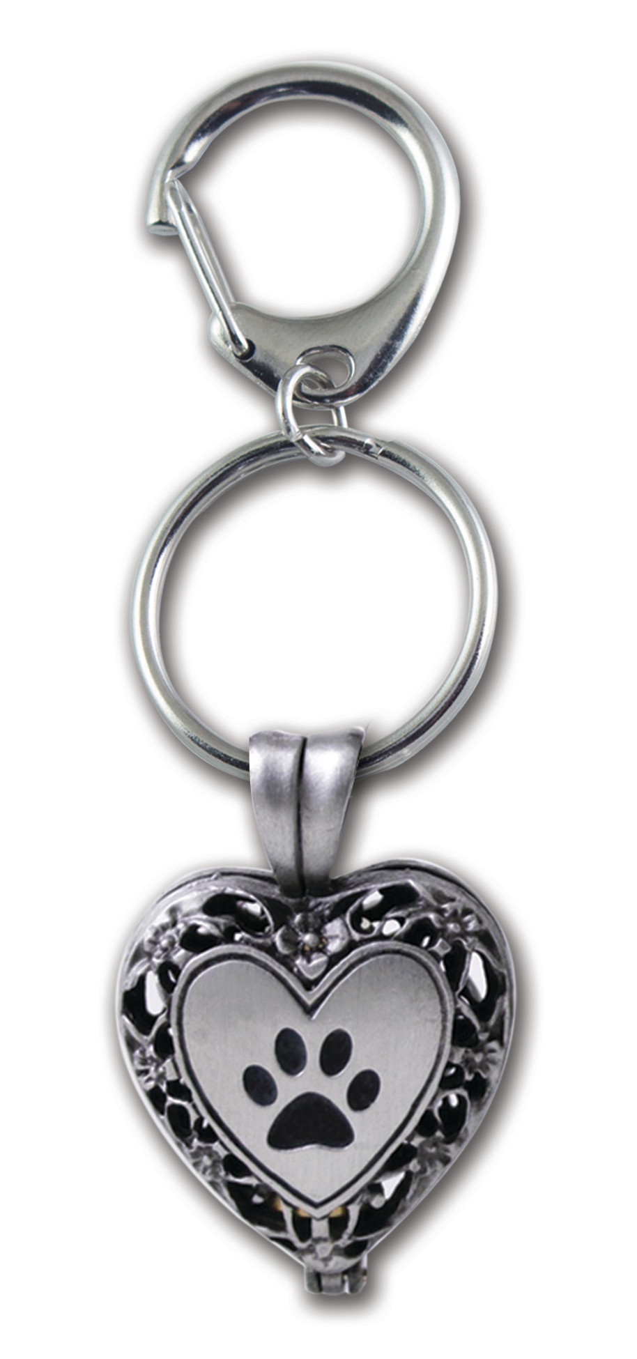 Paw Memorial Locket & Key Chain
