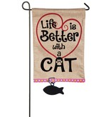 Small Flag - Life is Better with a Cat