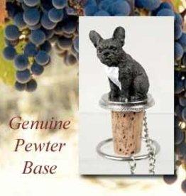 Bottle Topper-French Bulldog, Black