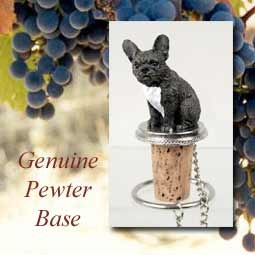 Bottle Topper-French Bulldog, Black