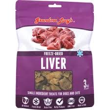 Grandma Lucy 3 oz Freeze Dried Liver Treat GF
