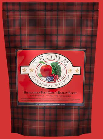 Fromm 5 Lb Dog Food - Highlander Beef