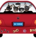 Magnetic Car Rat Terrier