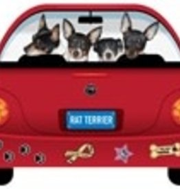 Magnetic Car Rat Terrier