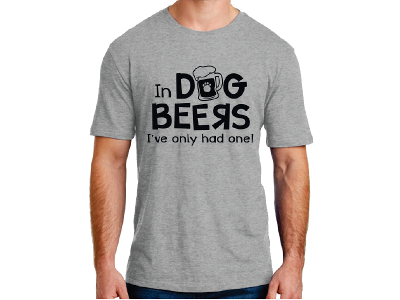 UNISEX T-SHIRT - IN DOG BEERS