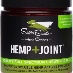 Super Snouts 30 CT lg Dog Hemp Joint 5 mg CBD Soft Chews