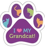 Paw Magnet -I love my Grand Cat
