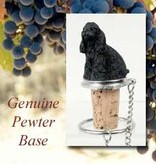 Bottle Topper-Cocker Spaniel, Black