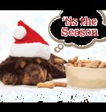 Christmas Card PEACE & JOY DOG BONES
