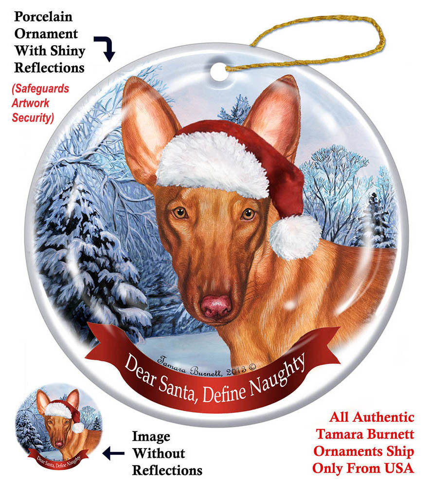Pet Gifts Round Ornament Pharaoh Hound