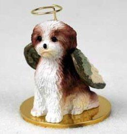 Angel Ornament Shih Tzu Brown/Wht Sport