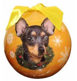 Ball Ornament - Chihuahua, Black