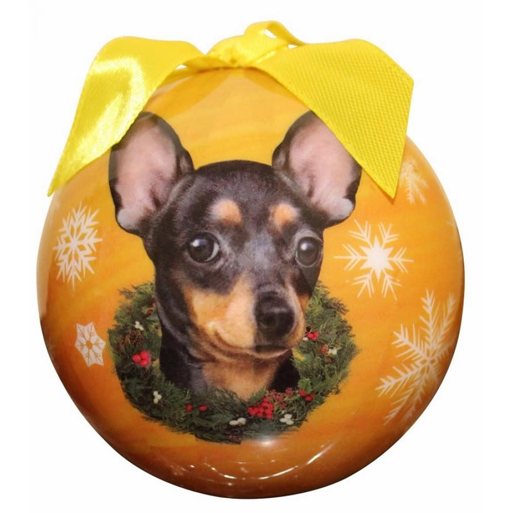 Ball Ornament - Chihuahua, Black