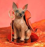 Devil Ornament Miniature Pinscher-Red/Brow