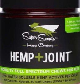Super Snouts 30 CT lg Dog Hemp Joint 5 mg  Soft Chews