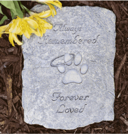 PET MEMORIAL STONE - ALWAYS REMEMBERED, FOREVER LOVED