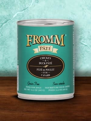 Fromm 12 oz Dog Can Chicken & Duck Pate GF