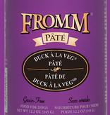 Fromm 12 oz Dog Can Duck a la Veg Pate GF