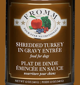Fromm 12 oz Dog Can Shredded Turkey Entree GF