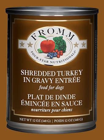 Fromm 12 oz Dog Can Shredded Turkey Entree GF