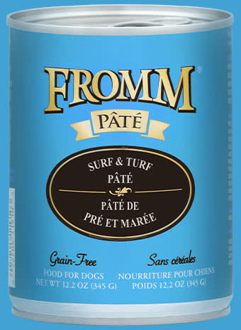 Fromm 12 oz Dog Can Surf & Turf Pate GF