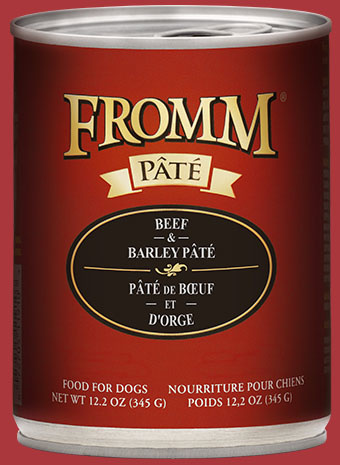 Fromm 12.2 oz Dog Can Beef & Barley Pate