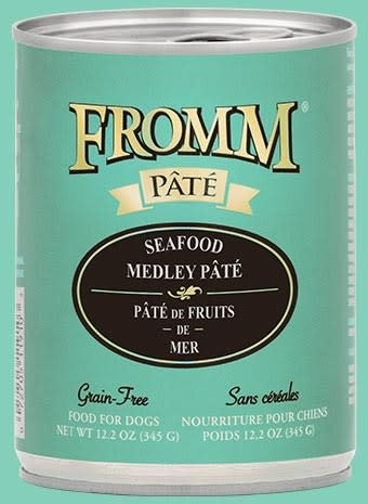 Fromm 12.2 oz Dog Can Seafood Medley Pate GF
